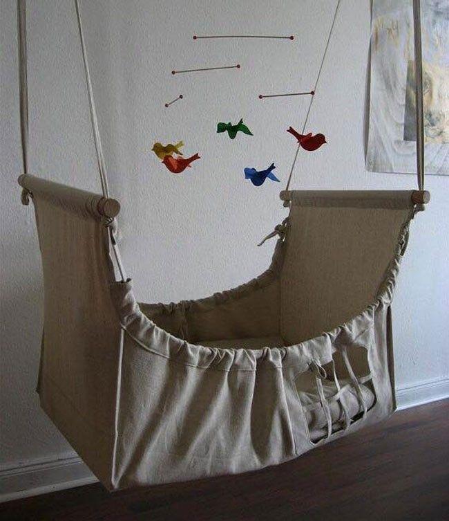 10 hermosas cunas colgantes para tu bebé | Cuna colgante, Colgantes ...