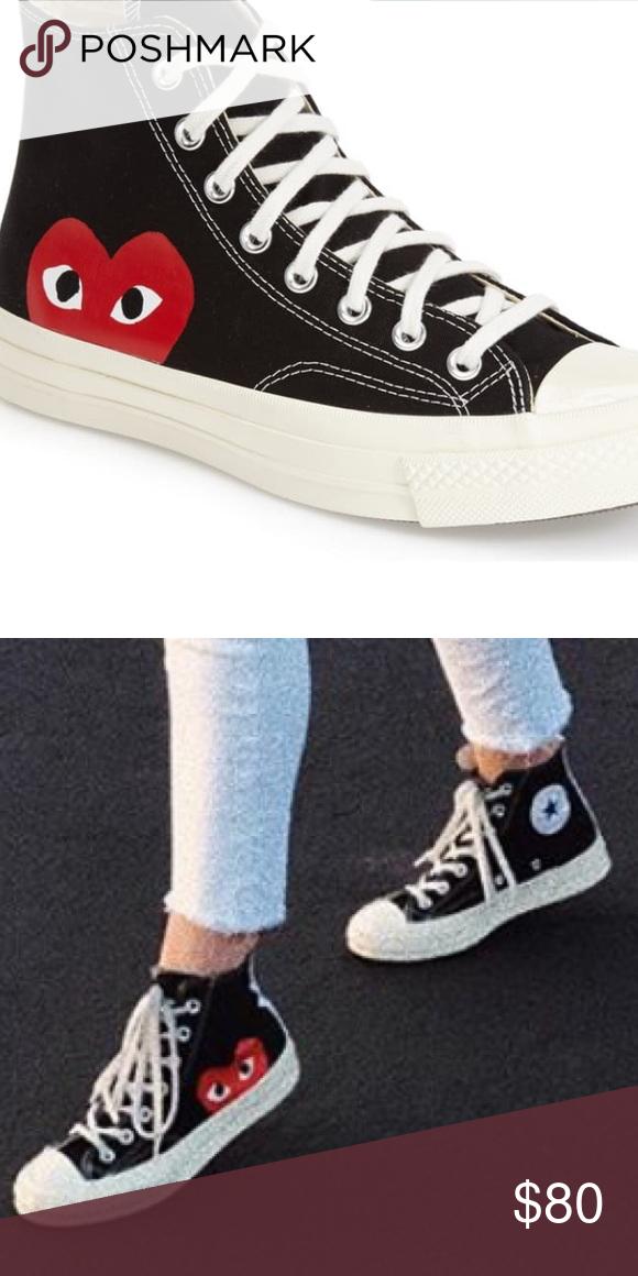 Comme Des Garcons Converse Size 6 Comme Des Garcons Converse Size 6 Great Condition Comm Converse Womens Shoes Sneakers Converse Chuck Taylor High Top Sneaker