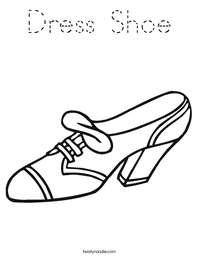 high heel shoes coloring pages dress shoe coloring page - Shoes Coloring Pages