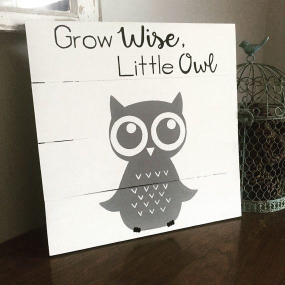 grow wise little owl sign owl nursery decor owl baby room owl rh pinterest com