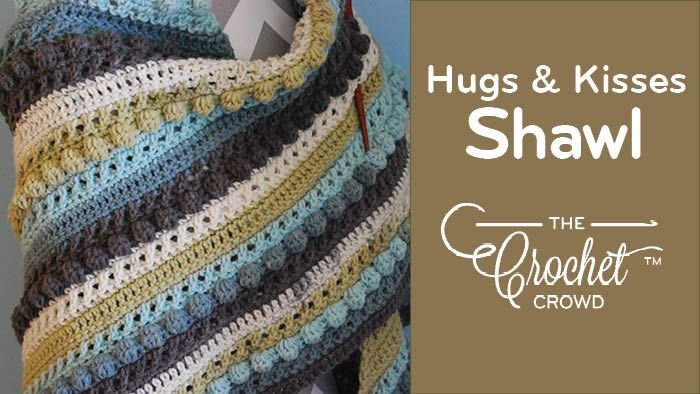 Crochet Hugs Amp Kisses Shawl Caron Cake Yarn Crochet
