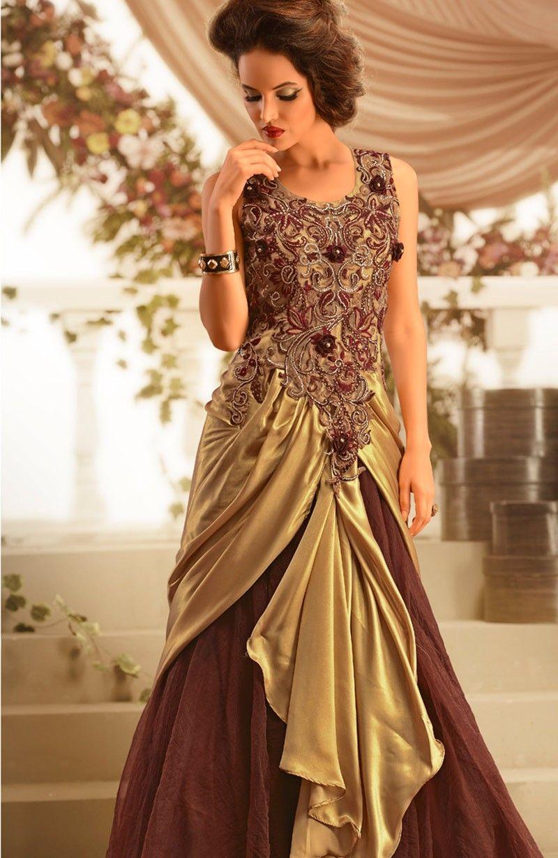 buy long evening gowns online Melbourne,Sydney, Brown Beige ...