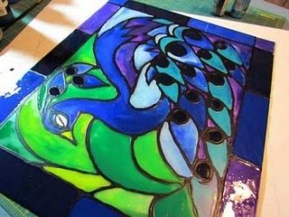 diy faux stain glass