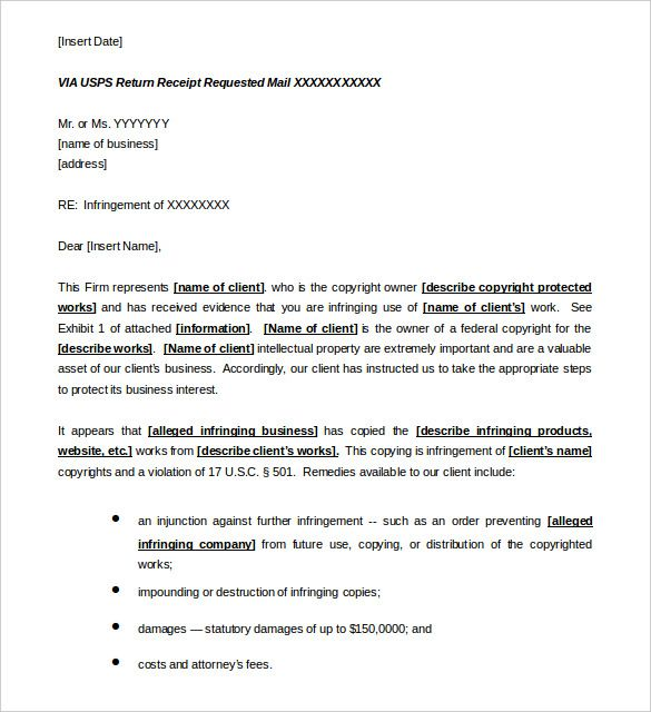 and desist letter templates free sample example format download - cease and desist sample letter