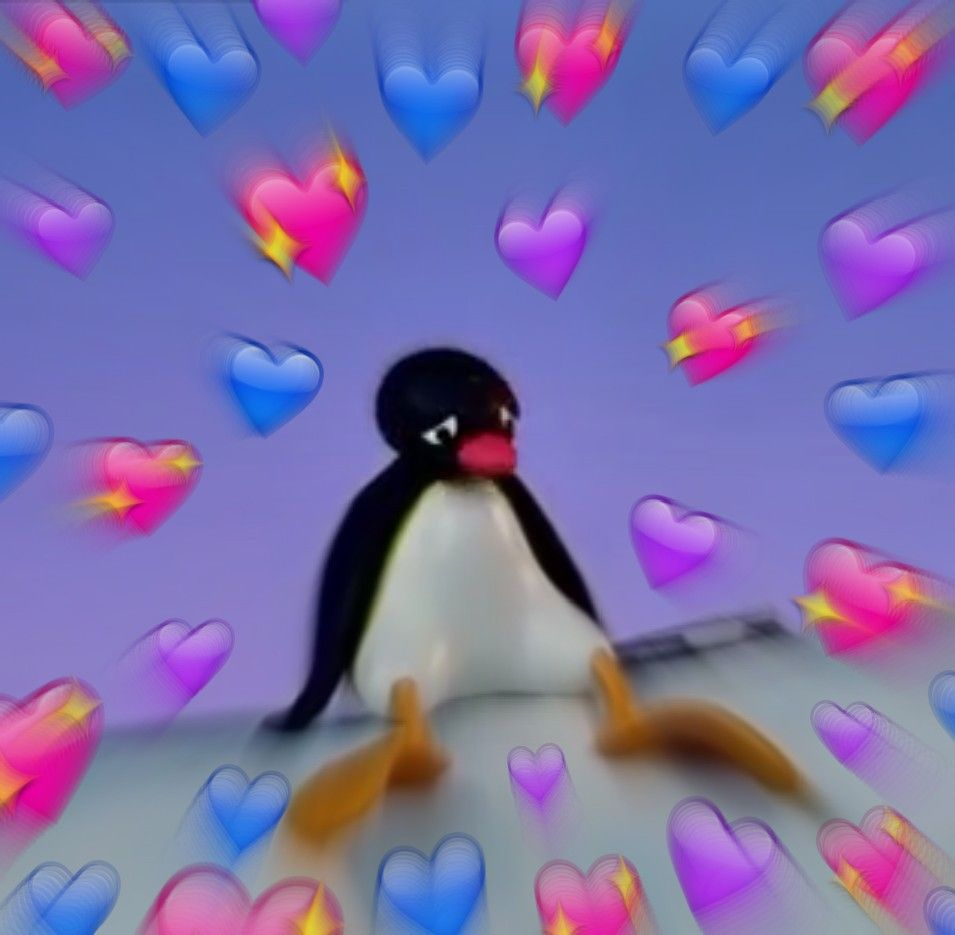 Pingu Heart Wholesome Reaction Meme Pingu Memes Pingu Heart Meme