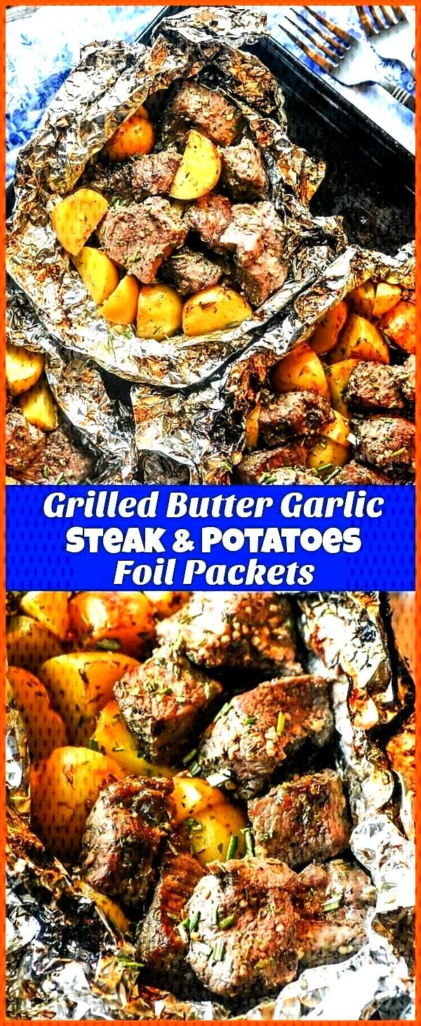 Butter Garlic Steak amp Potato Foil Pack Dinner - 4 Sons R Us Grilled Butter Garlic Steak amp Potato
