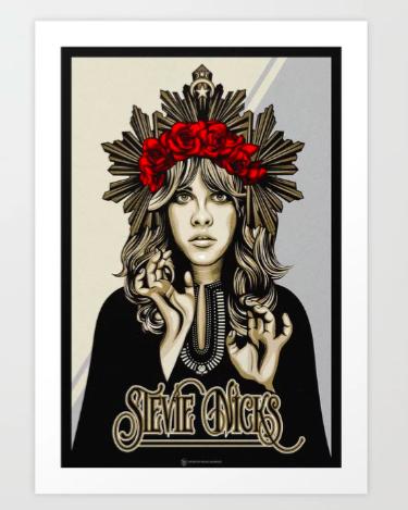 Stevie Nicks Poster Illustration Stevienicks Fleetwoodmac Art Gift Stevie Nicks Stevie Johnny Cash Tattoo