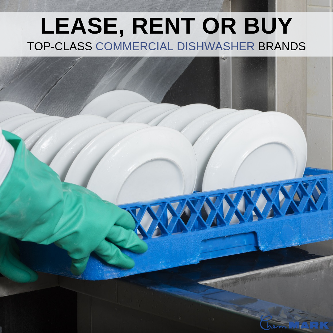Call Chem Mark Inc At 714 784 5522 Today And Ask About Our Commercial Dishwasher Rental Or Lease Deals That Include Commercial Dishwasher Lease Deals Lease