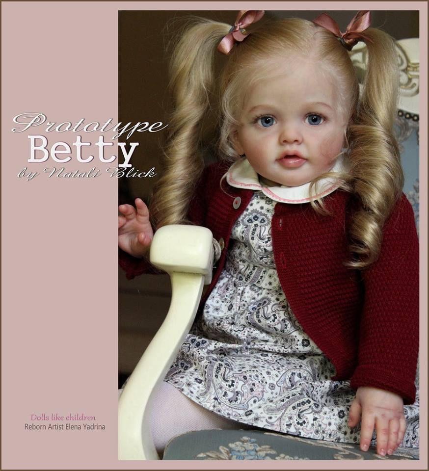 Betty Reborn Vinyl Doll Toddler Kit by Natali Blick ...