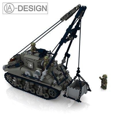 Custom Instruction M32b1 Sherman Wwii Ww2 Army Tank Pdf Made Of Lego