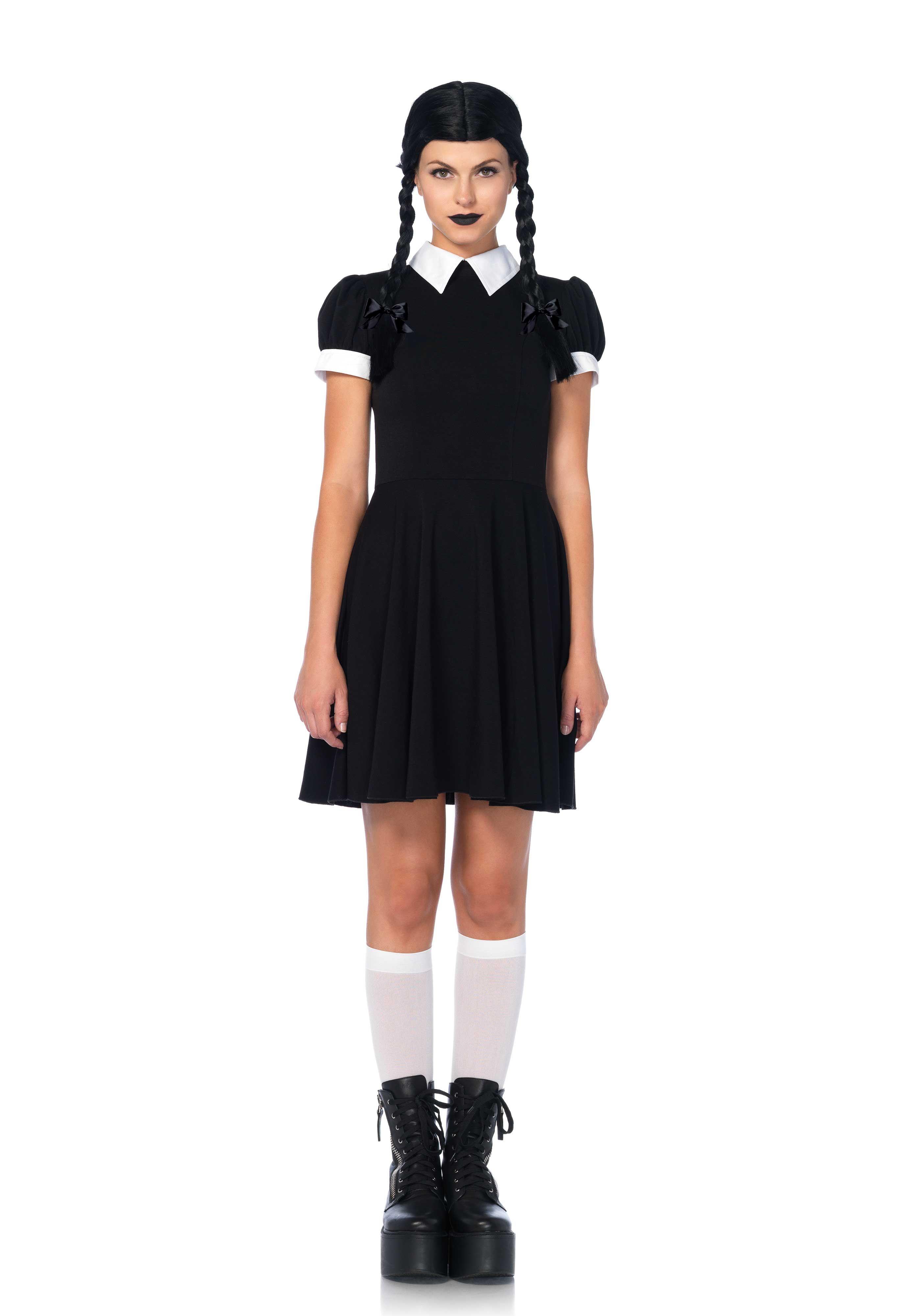 Leg Avenue Gothic Darling Costume Wednesday Addams