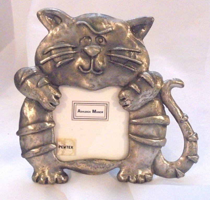 Ashleigh Manor Fat Cat Pewter Picture Frame 1 1/2 inch Picture ...