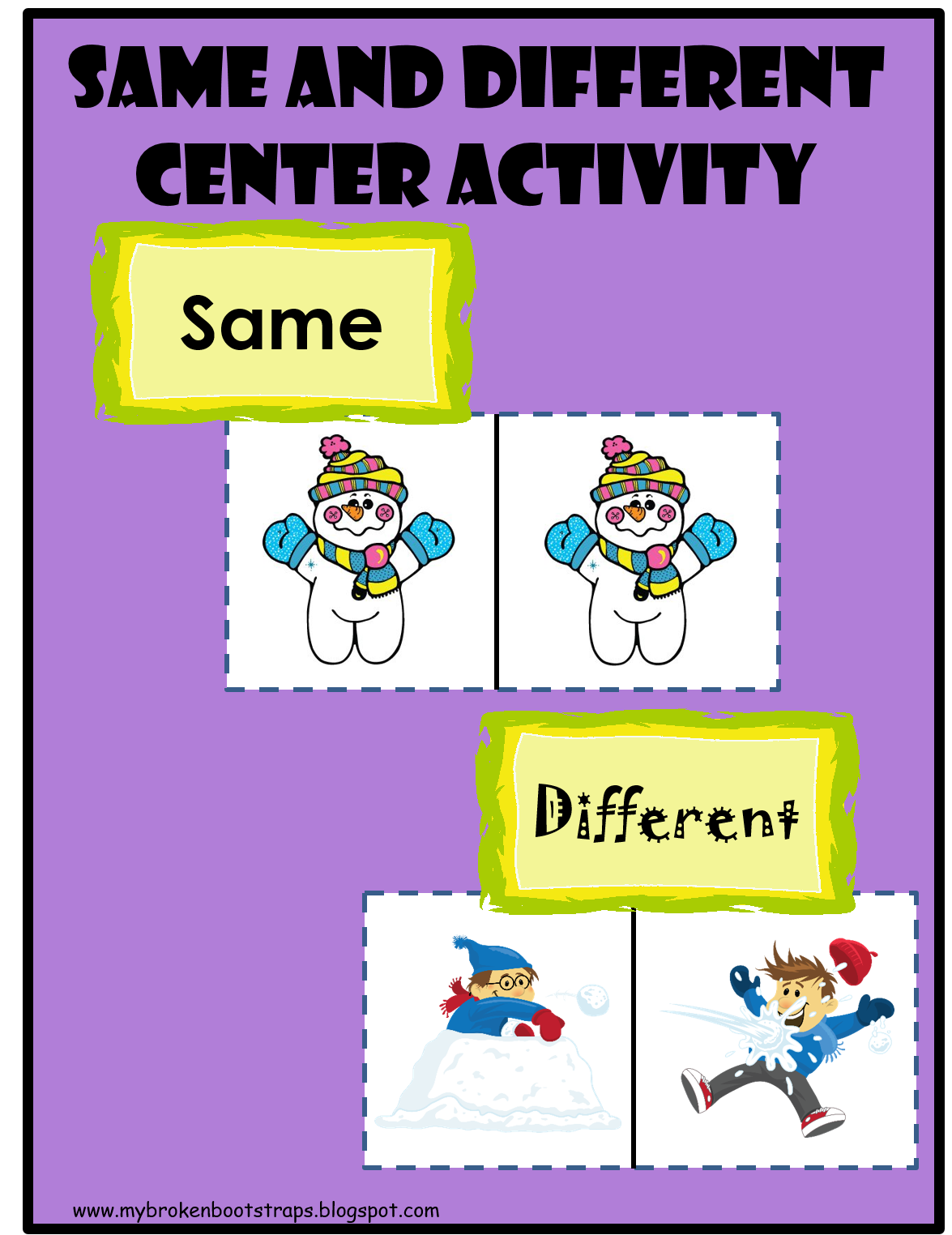 Same And Different Winter Center Activity