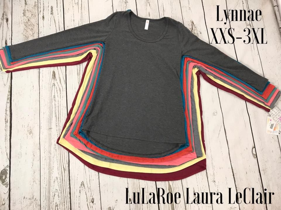 5bc70366d79 LuLaRoe Size comparison of the Lynnae top sizes xxs-3xl