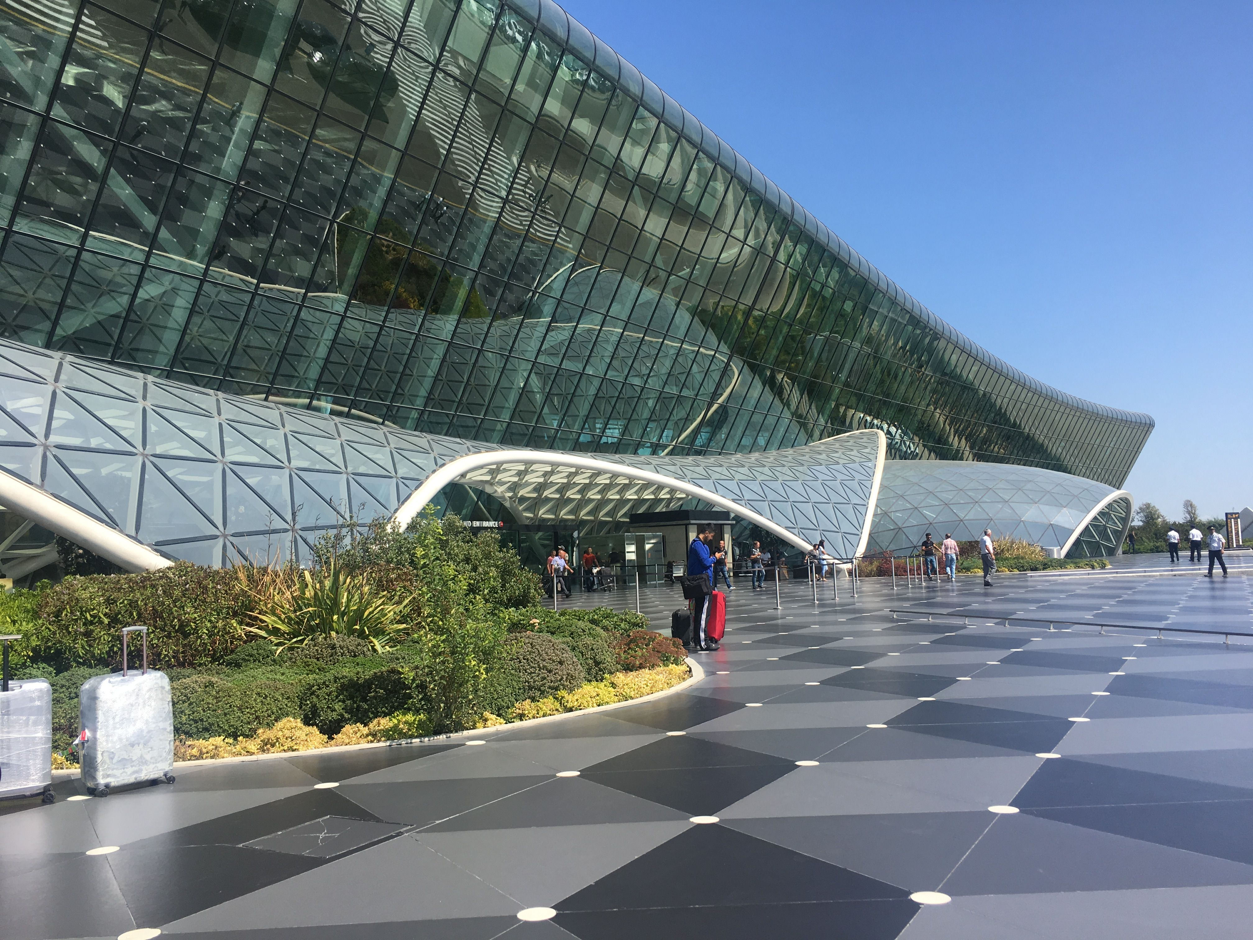 Baku Azerbaijan Airport Architecture Landmark Landmark Buildings Baku City