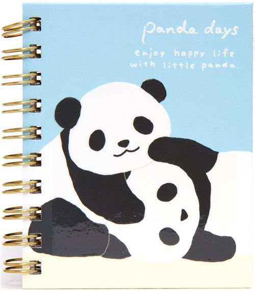 kawaii panda bear mini ring binder notebook by San-X