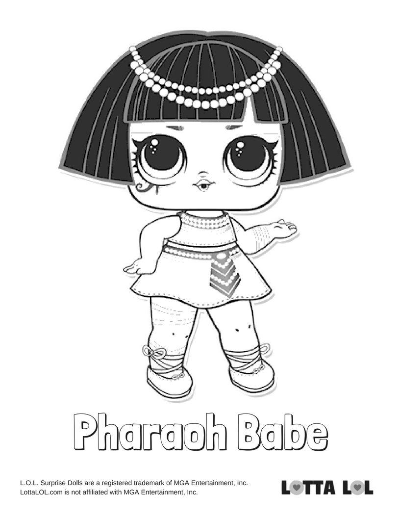 Pharaoh Babe Coloring Page Lotta Lol Lol Dolls Coloring Pages