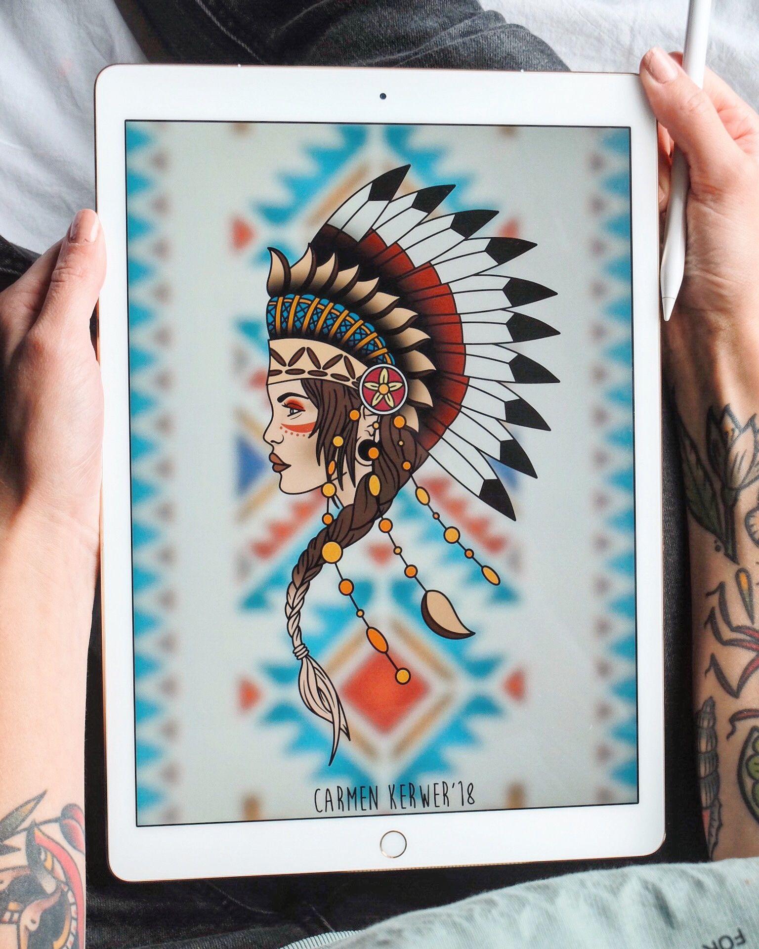 Zeichnung Von Carmen Kerwer Tattoo Tattoo Frauen Traditionelle