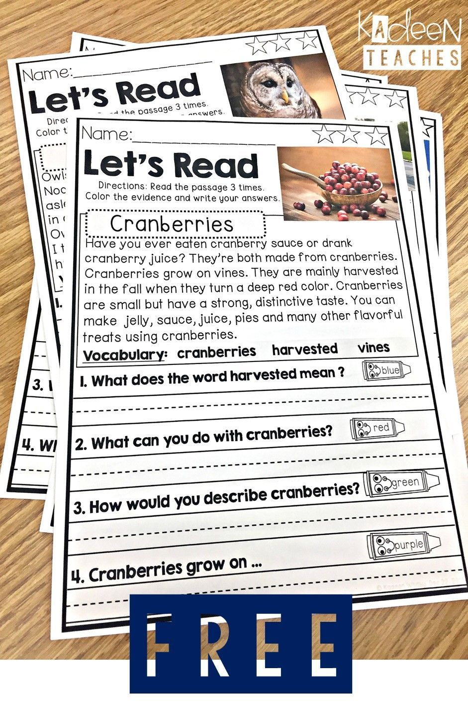 Free Reading Comprehension Passages Reading Tutoring Third Grade Reading Reading Comprehension Passages [ 1410 x 941 Pixel ]