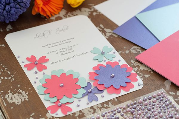 How to make colour pop wedding stationery diy wedding for Make your own wedding place cards