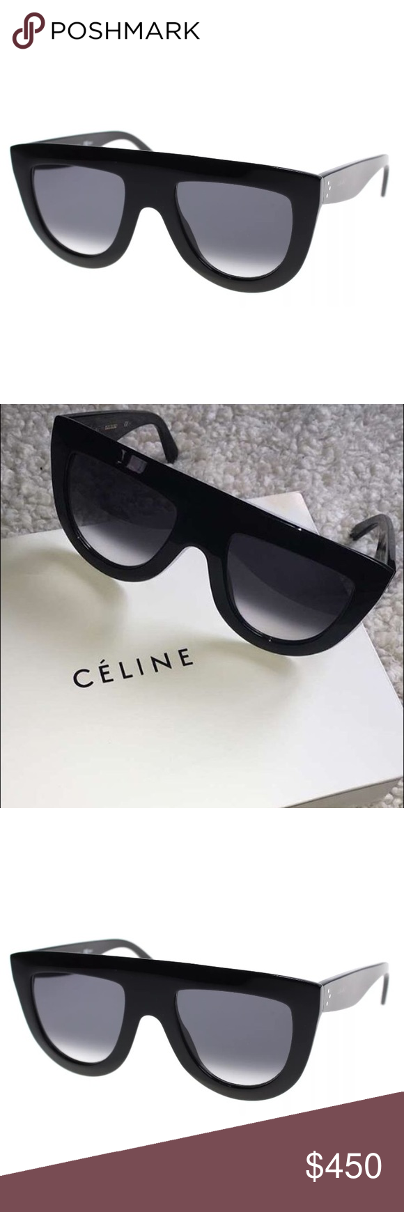 f5874ed7ec Celine Andrea frame flat top shadow sunglasses Brand New Celine Sunglasses  CL41398 S Col 807 Size 52 mm. Comes With Celine Case