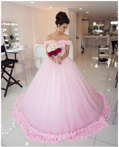 d27dd8b06267 2017 New Arrival A-line Princess Simple Flower Sweep Train Wedding Dress  ABC00029