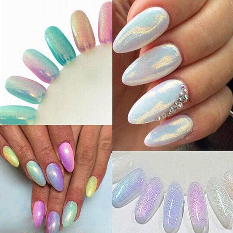 2016 Trend HOT Nail Glitter Shining Nail Art Tip Decoration Magic - uas efecto espejo