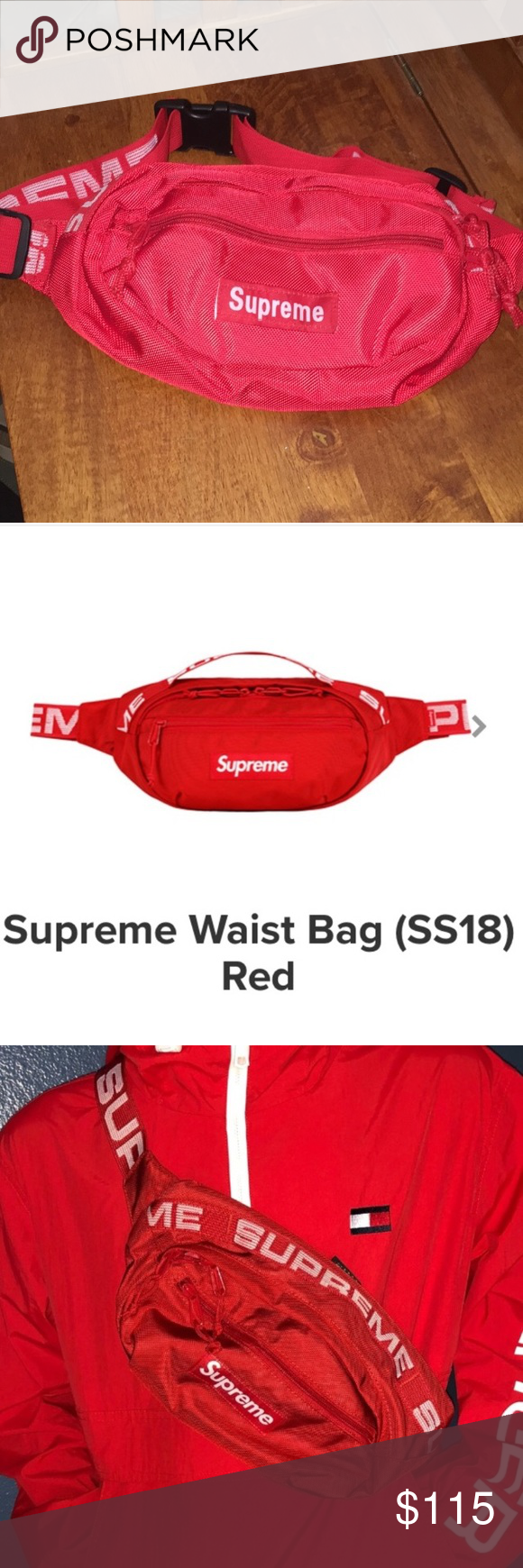 3c261d1f Red supreme fanny pack Red supreme fanny pack - price is low because I  can't find the stockX email Supreme Bags