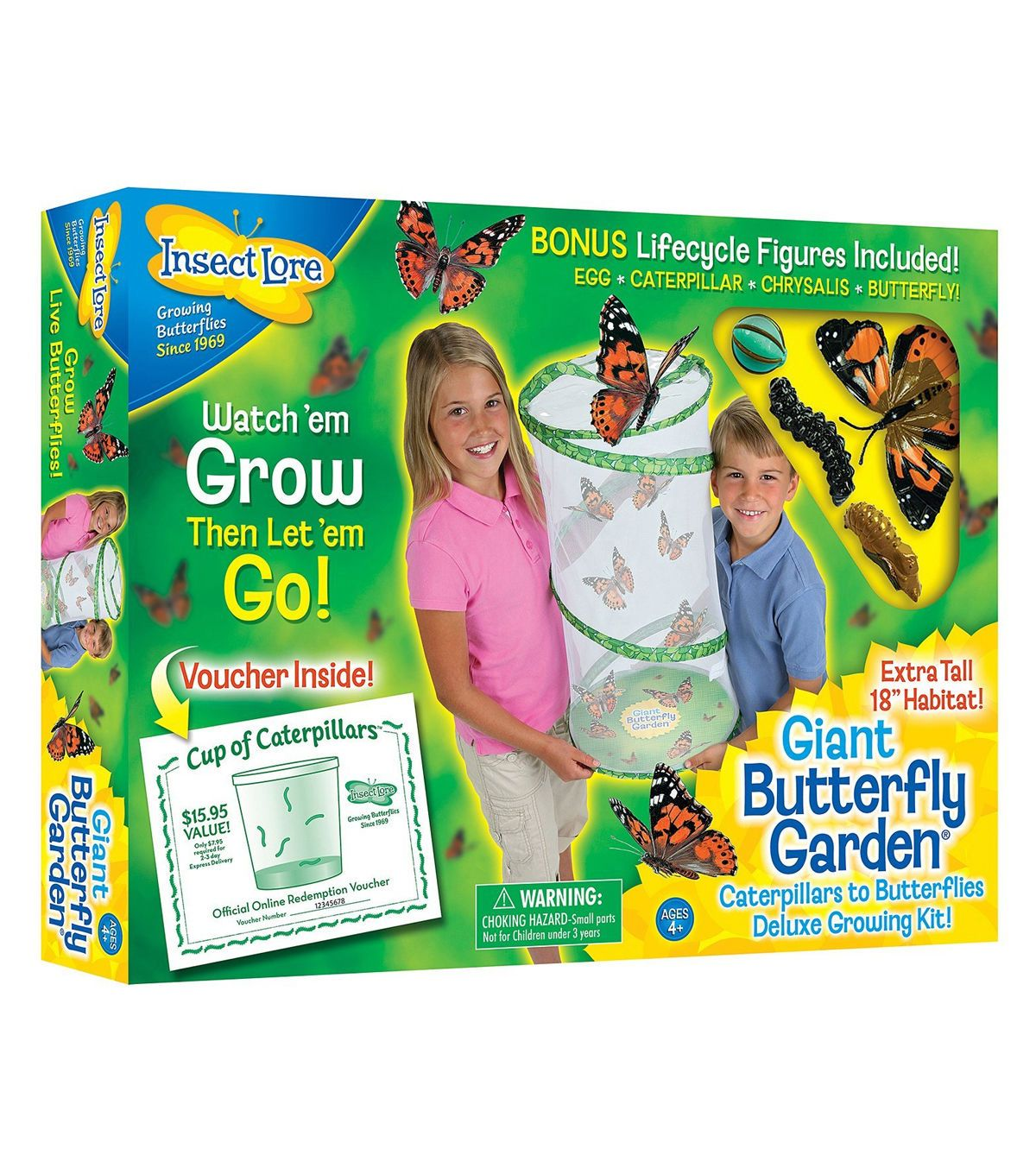 Insect Lore Giant Butterfly Garden Deluxe Growing Kit