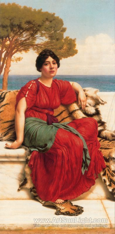 By the Blue Ionian Sea - John William Godward