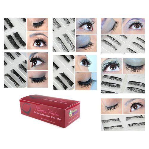 Bundle Monster 70 Pair False / Fake Eyelash Variety Pack Combo - 7 Styles