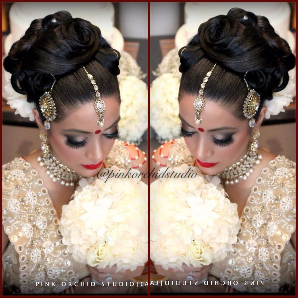 beautiful work by pink orchid studio calgary   wedding hair