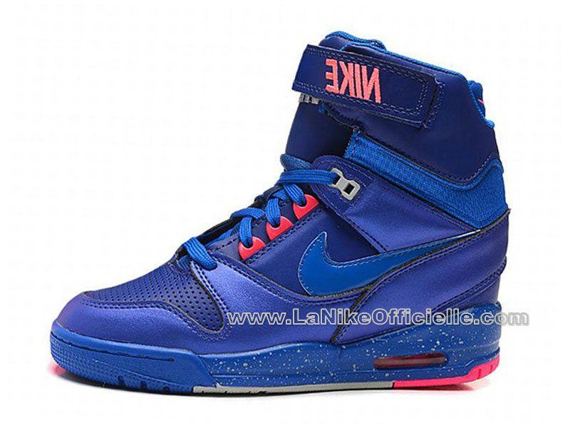 Nike Air Revolution Sky Hi GS - Chaussure Montante Pour Femme Bleu royal 599410-401 vipchaussures369