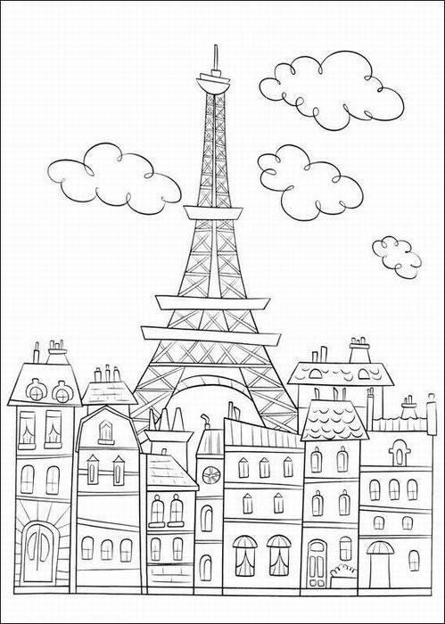 Ausmalbilder Paris kita Pinterest Colores Dibujos