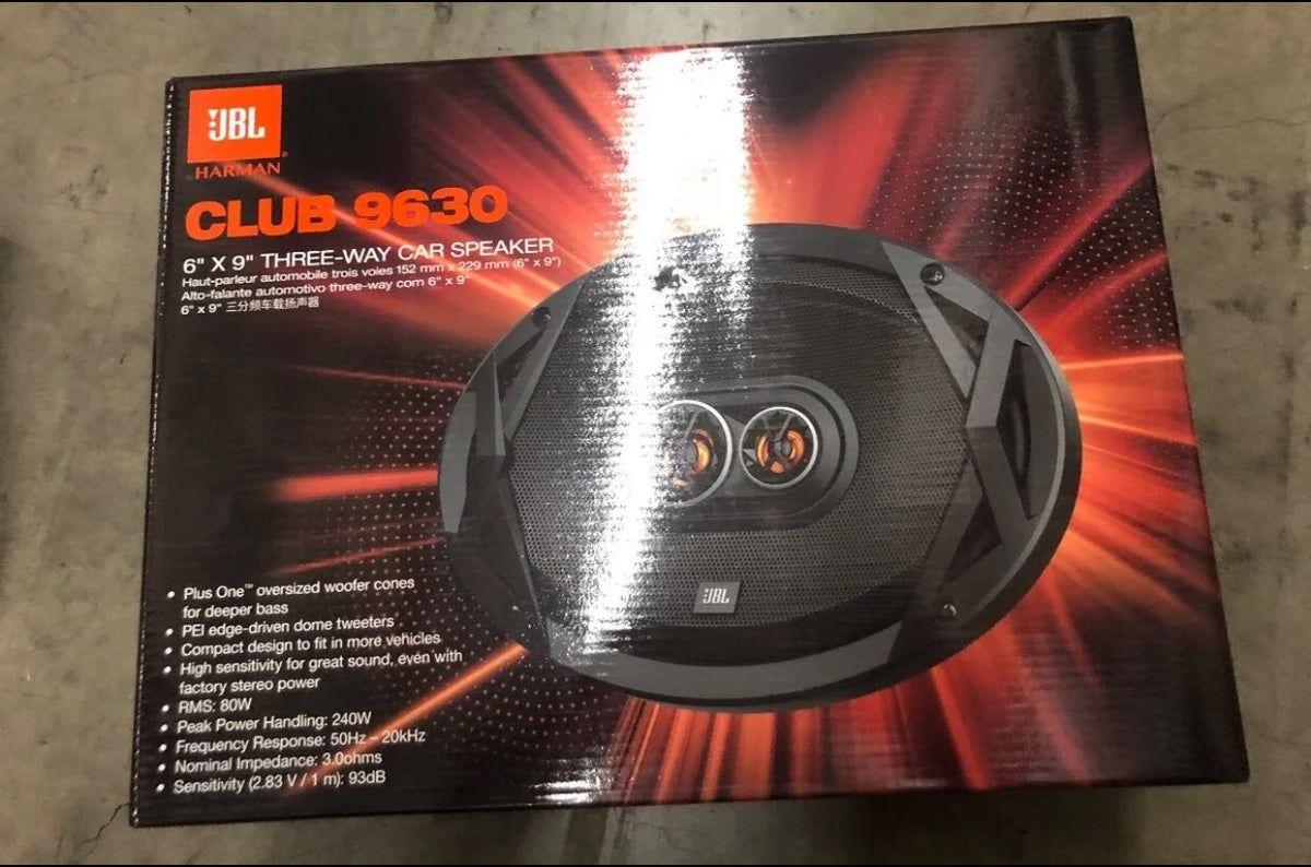 """JBL CLUB9630 6X9"""" Coaxial Speakers- PAIR"""
