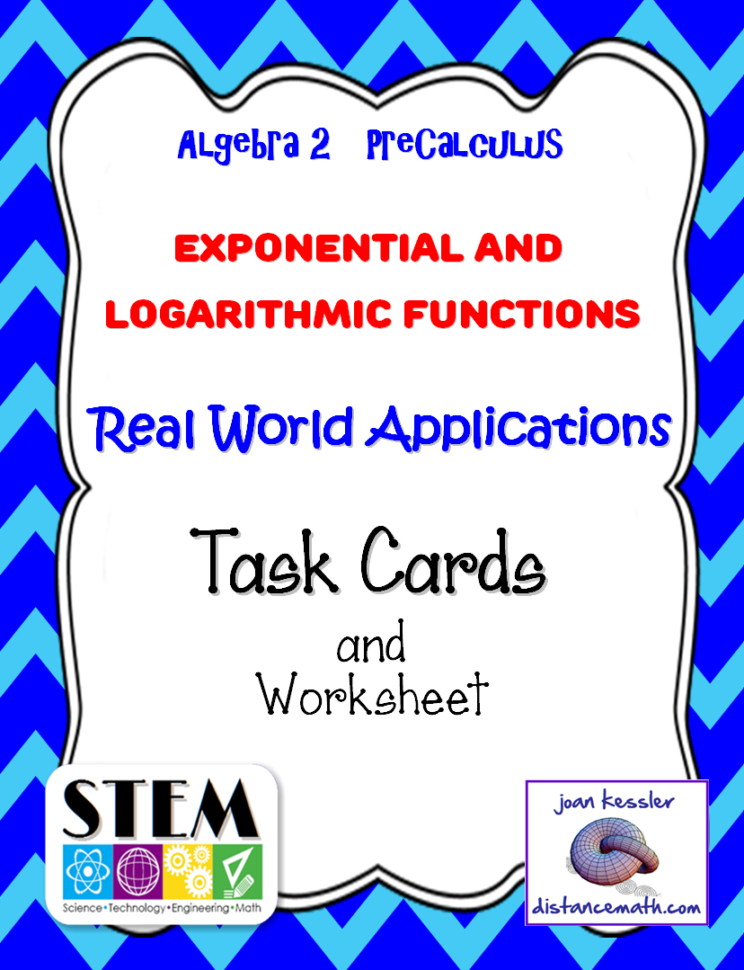 Http Www Teacherspayteachers Com Product Algebra 2 Precalculus Applications Log Equations Task Cards Worksheet 1428221 Precalculus Algebra Task Cards [ 1079 x 828 Pixel ]