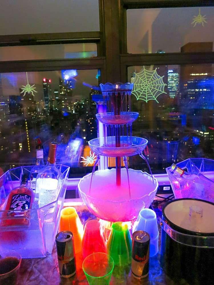 Spooky Glow In The Dark Halloween Party Halloween Party Ideas Photo 3 Of 16 Annual Halloween Party Halloween Drinks Blacklight Party