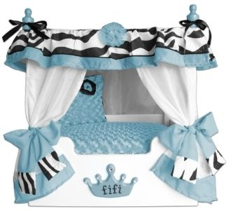 This Lime Fifi Zebra Canopy pet bed is great for the p&ered a pet in your home. Available in large and small as well as in several colors.  sc 1 st  Pinterest & Blue