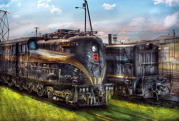 Train Engine 4919 Pennsylvania Railroad Electric Locomotive 4919 By Mike Savad Pennsylvania Railroad Railroad Art Electric Locomotive