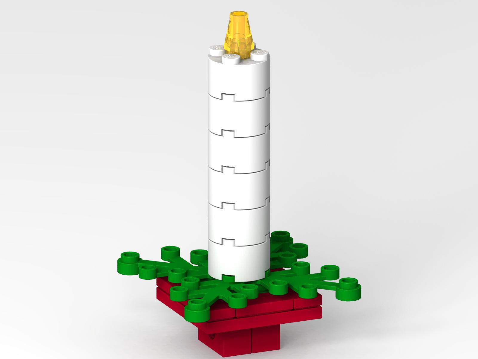 Lego candle tree ornament lego builds pinterest lego ornament