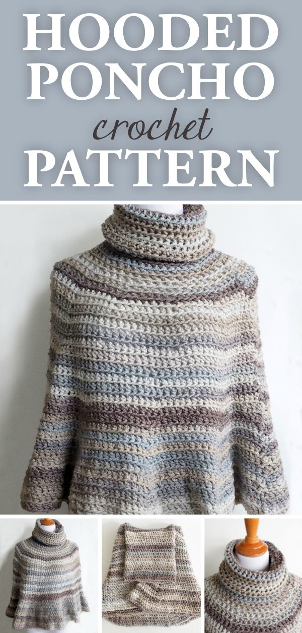 Hooded Crochet Poncho Pattern • Simply Collectible Crochet