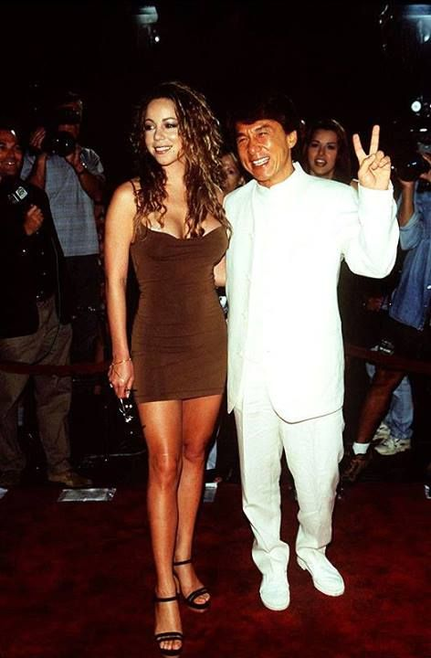 Mariah with Jackie Chan