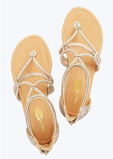 Braided Roman Sandals | Footwear | rue21