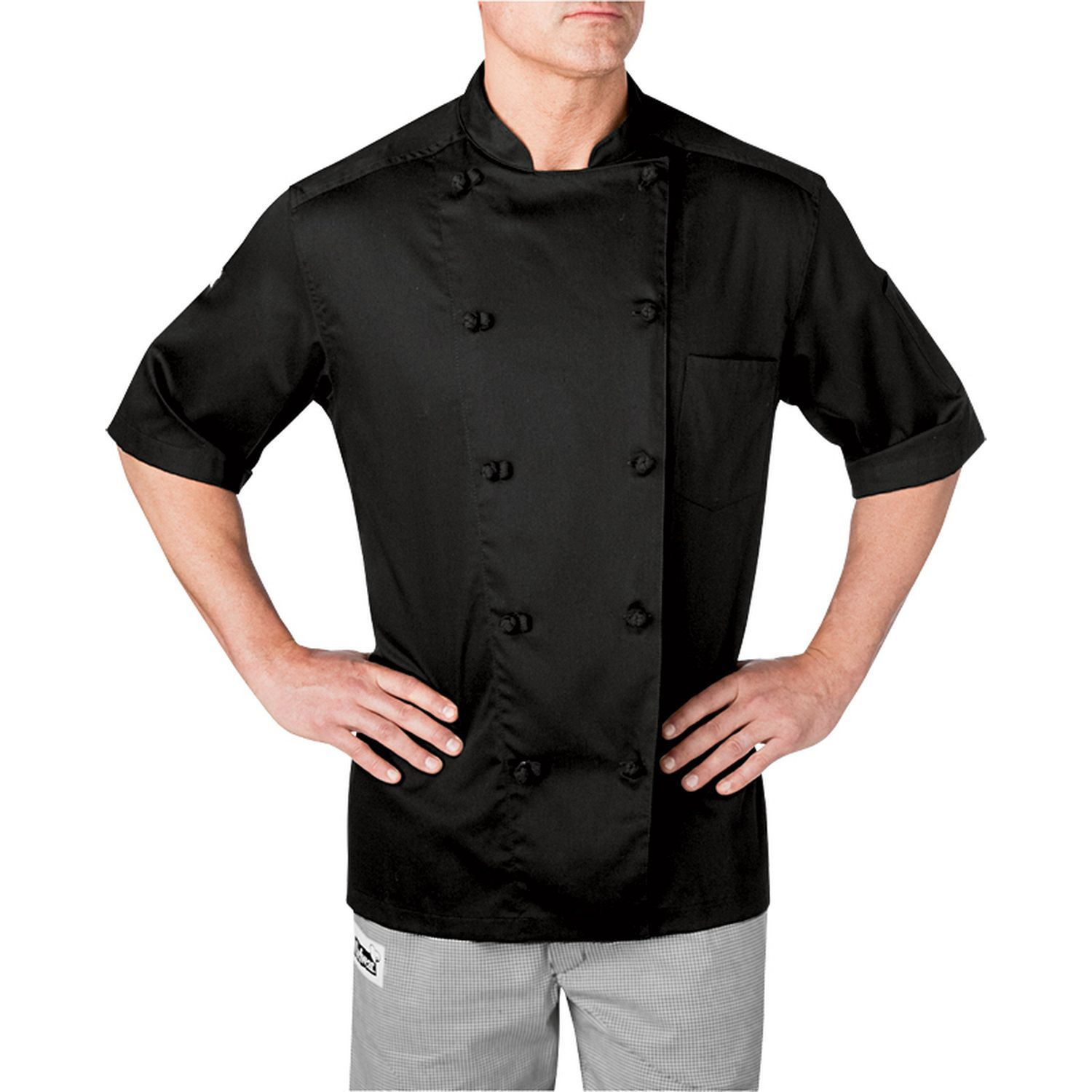 Lightweight Cotton Short Sleeve Chef Coat (5551) Chef