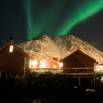 """Northern light in Lofoten Norway  This board is ideas for new housing in the area """"Rorbuer"""""""