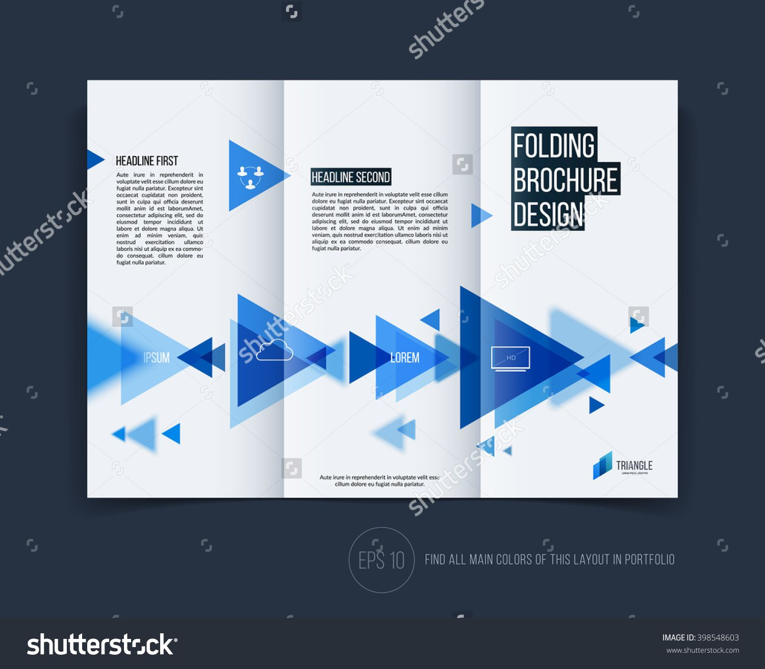 Business Brochure Flyer Design Layout Template In A Size With