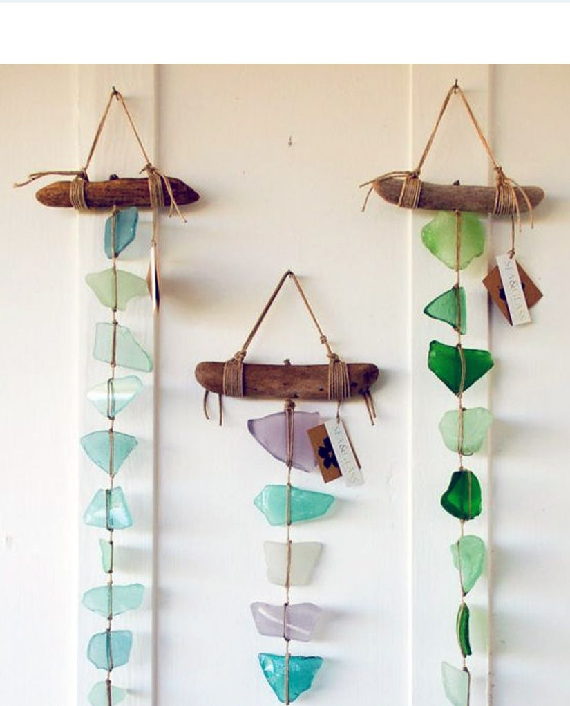 30 Sea Glass Ideas Projects Sea Glass Crafts Sea Glass Art Wind Chimes