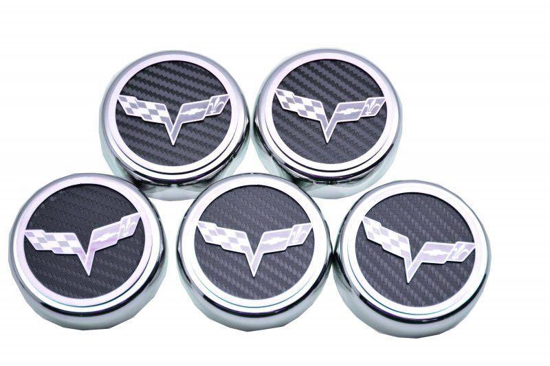 Corvette C6 Fuse Box Cover w//Logo Crossed Flags 2005-2013