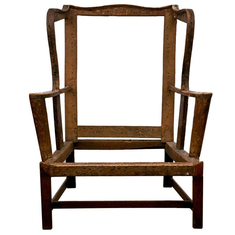 Modern Wing Chairs chippendale antique wing chair frame | wingback chairs, modern and