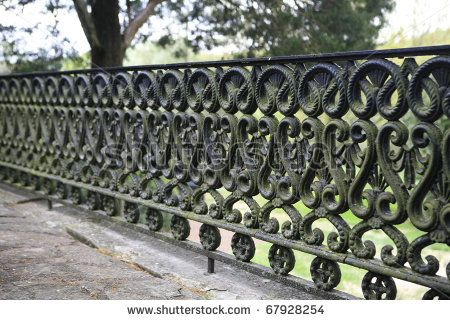 Wrought Iron Gate Cira 1800 S At A Nashville Mansion By